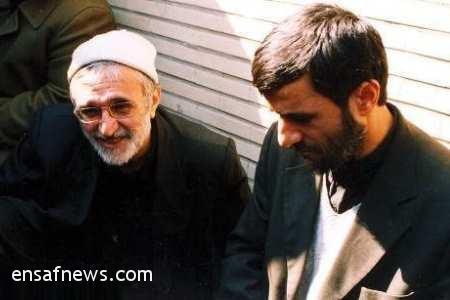 عکس آرشیوی: منصور ارضی در کنار احمدی نژاد