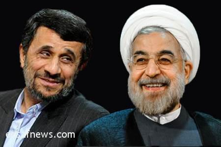 حسن روحانی - محمود احمدی نژاد