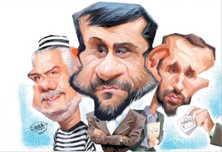 حمید بقایی - احمدی نژاد - محمدرضا رحیمی