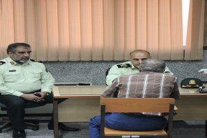 اداره دهم - حضور سردار رحیمی در پلیس آگاهی و گفتگوی وی با متهم پرونده (1)