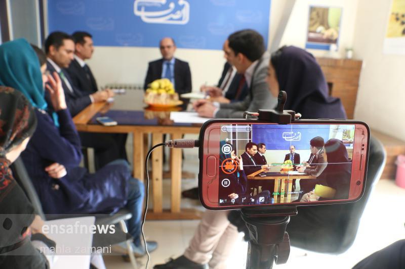 گزارش تصویری | بازدید سفیر افغانستان از انصاف نیوز