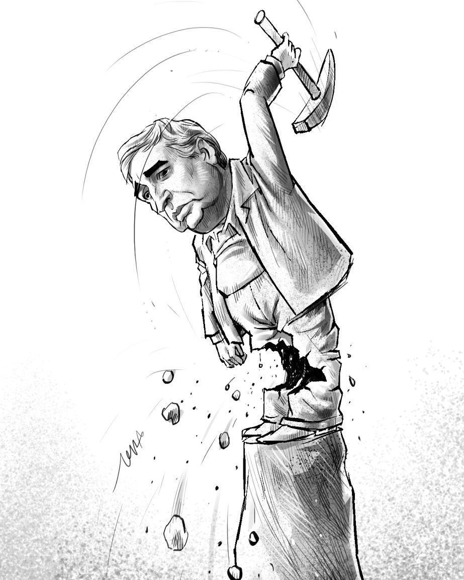 کاریکاتور بزرگمهر حسینپور از حاتمیکیا