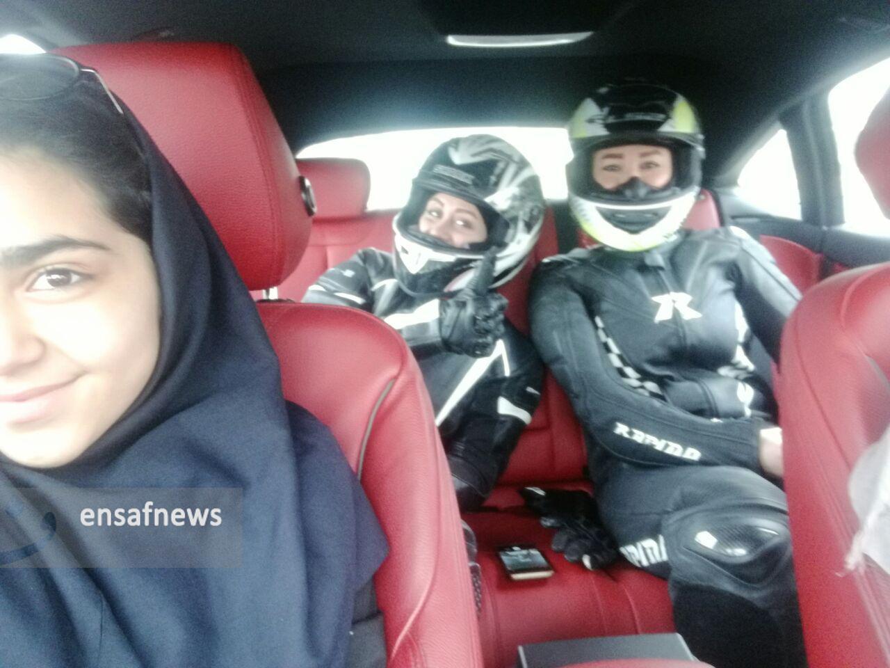 گزارش تصویری | تمرین موتور سواری زنان در پیست آزادی
