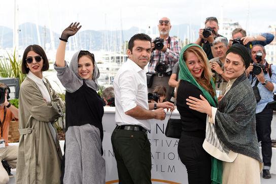 عکسها: بهناز جعفری و مرضیه رضایی در فوتوکال جشنواره کن