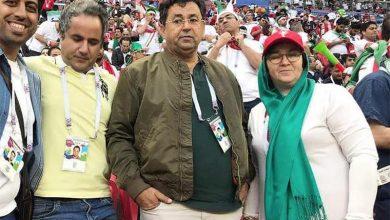عکس | پدر و مادر سردار آزمون در استادیوم
