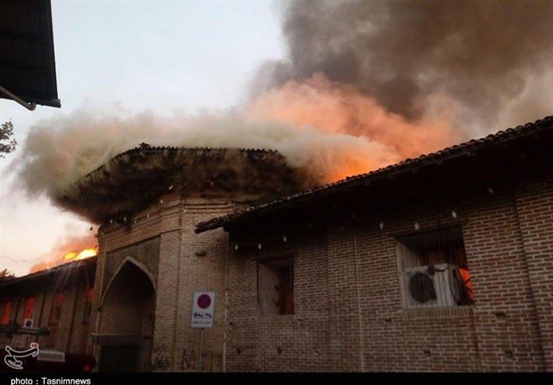 مسجد جامع ساری - آتش سوزی در مسجد جامع ساری