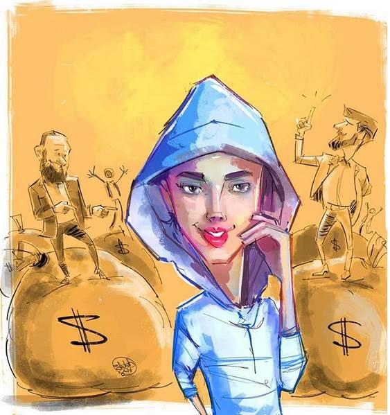 انتقاد کارتونیست دربارهی مائده هژبری