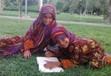 خانواده ای از سیستان به پارک لاله پناه آوردهاند