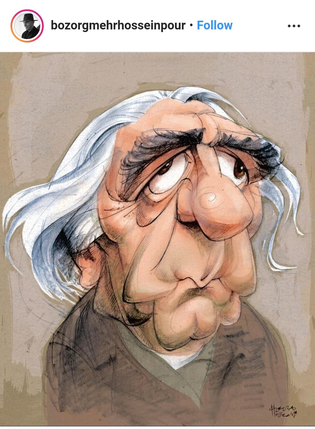 خاطرهی طنز بزرگمهر حسینپور از ناراحتی عزتالله انتظامی از یک کاریکاتور