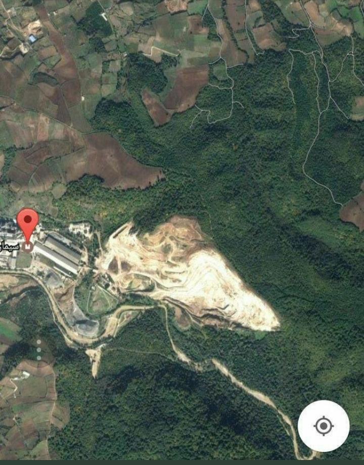 «غارت جنگل» توسط کارخانه سیمان در مازندران