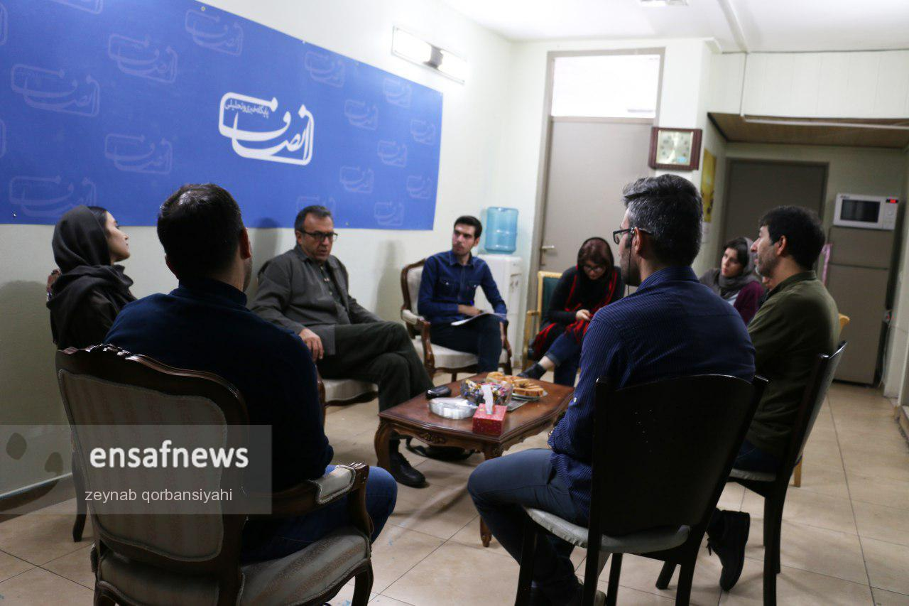 گزارش تصویری   احسان شریعتی در گعده انصاف