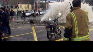 ترکیدگی لوله آب در میدان توحید