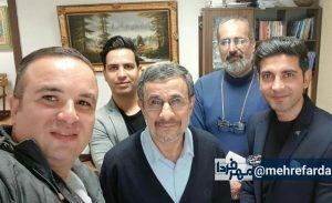 داوری در مصاحبهی چند خبرنگار ورزشی با احمدی نژاد در دفتر او