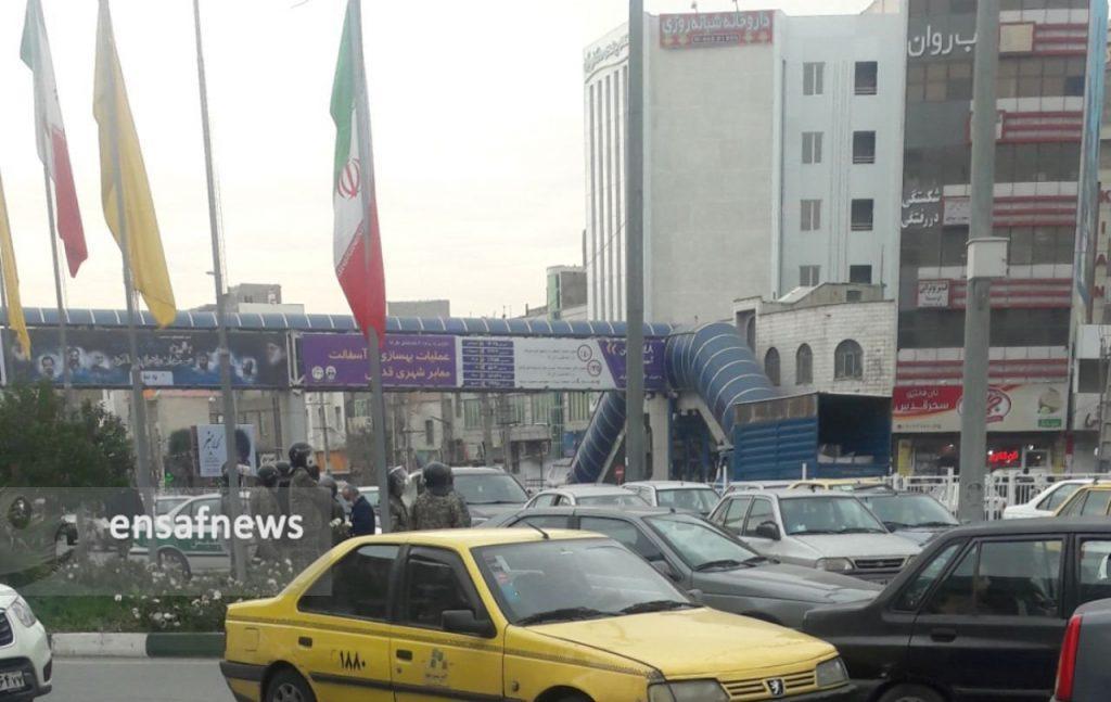 گزارش: حضور نیروهای انتظامی و آرامش در شهر قدس