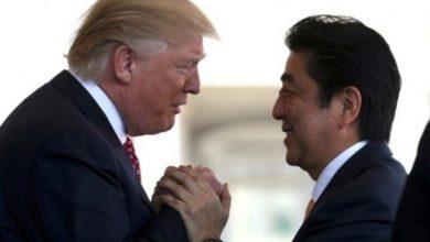 شینزو آبه و ترامپ