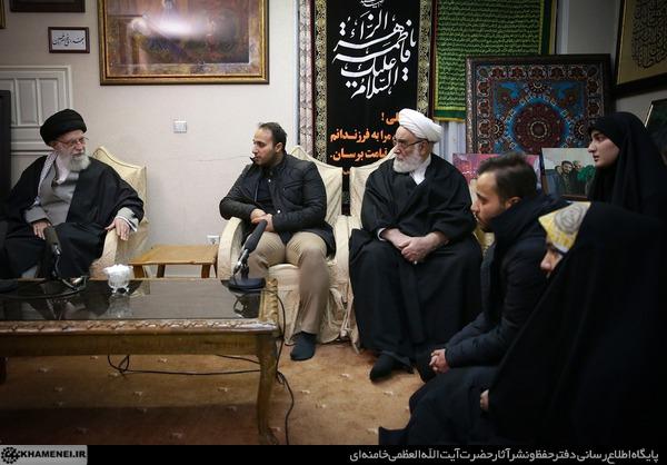 حضور رهبری در منزل شهید قاسم سلیمانی [+سخنان و تصاویر]