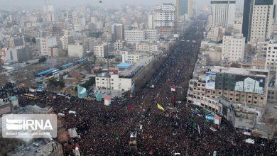 گزارش: تشییع پیکر شهید قاسم سلیمانی در تهران [+عکس]