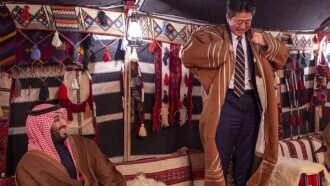 سورپرایز محمد بن سلمان برای نخست وزیر ژاپن [+تصاویر]