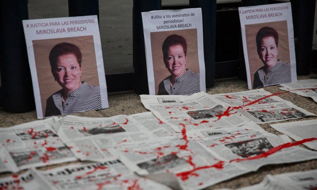 اعتراضی در مکزیکو سیتی پس از قتل میروسلاوا بریچ در سال 2017. عکس: دنیل کاردناس/ خبرگزاری آناتولی/ گتی ایمجز
