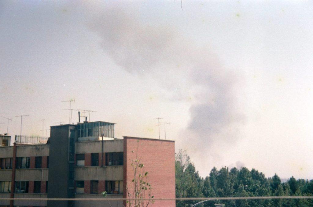 نخستین عکسها از حملهی عراق به مهرآباد در شهریور ۱۳۵۹
