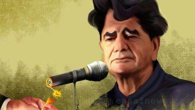 کارتون محمدرضا شجریان کاری از بنیامین آل علی کارتونیست انصاف نیوز