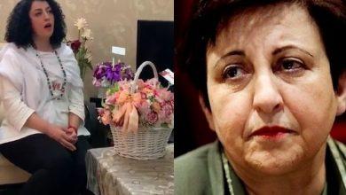 توییت انصاف   دفاع از نرگس محمدی و اعتراض به شیرین عبادی