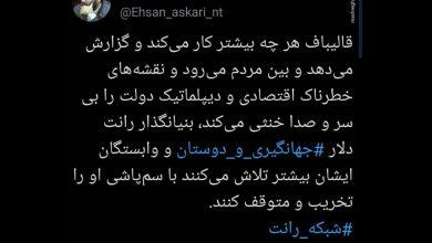 حمله مجدد سایت مشرق و مشاور قالیباف به دلار ۴۲۰۰ تومانی
