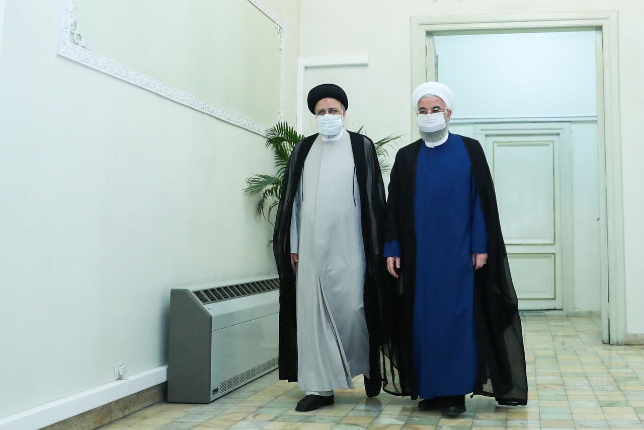 دیدار رییس جمهور حسن روحانی با ابراهیم رئیسی