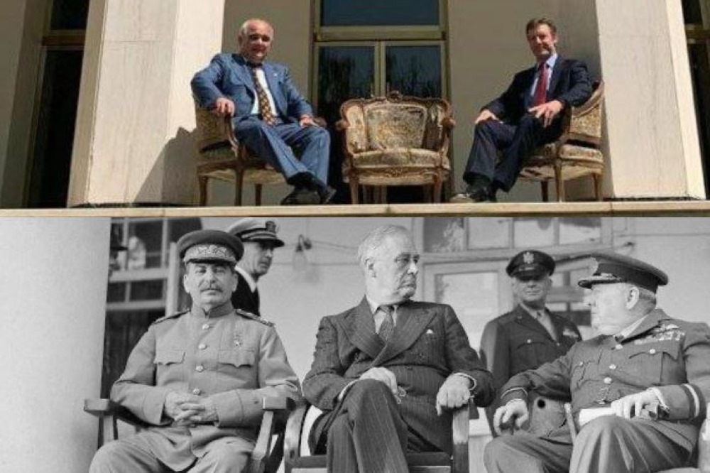 عکس یادگاری دو سفیر یادآور توهینی تاریخی | مسعود فروزنده