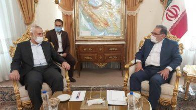 دیدار زیاد النخاله و اسماعیل هنیه با شمخانی در تهران
