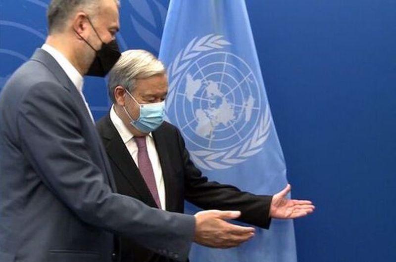 دیدار امیرعبداللهیان با دبیرکل سازمان ملل