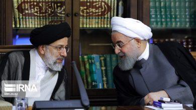 حسن روحانی و ابراهیم رئیسی در جلسه شورای عالی انقلاب فرهنگی